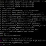 TyepScriptのインストールでエラー